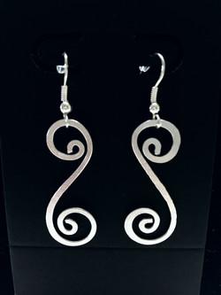 Ethereal Esther Earrings - Double Swirl. JPEG