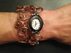 2014 Copper Watch With green beads