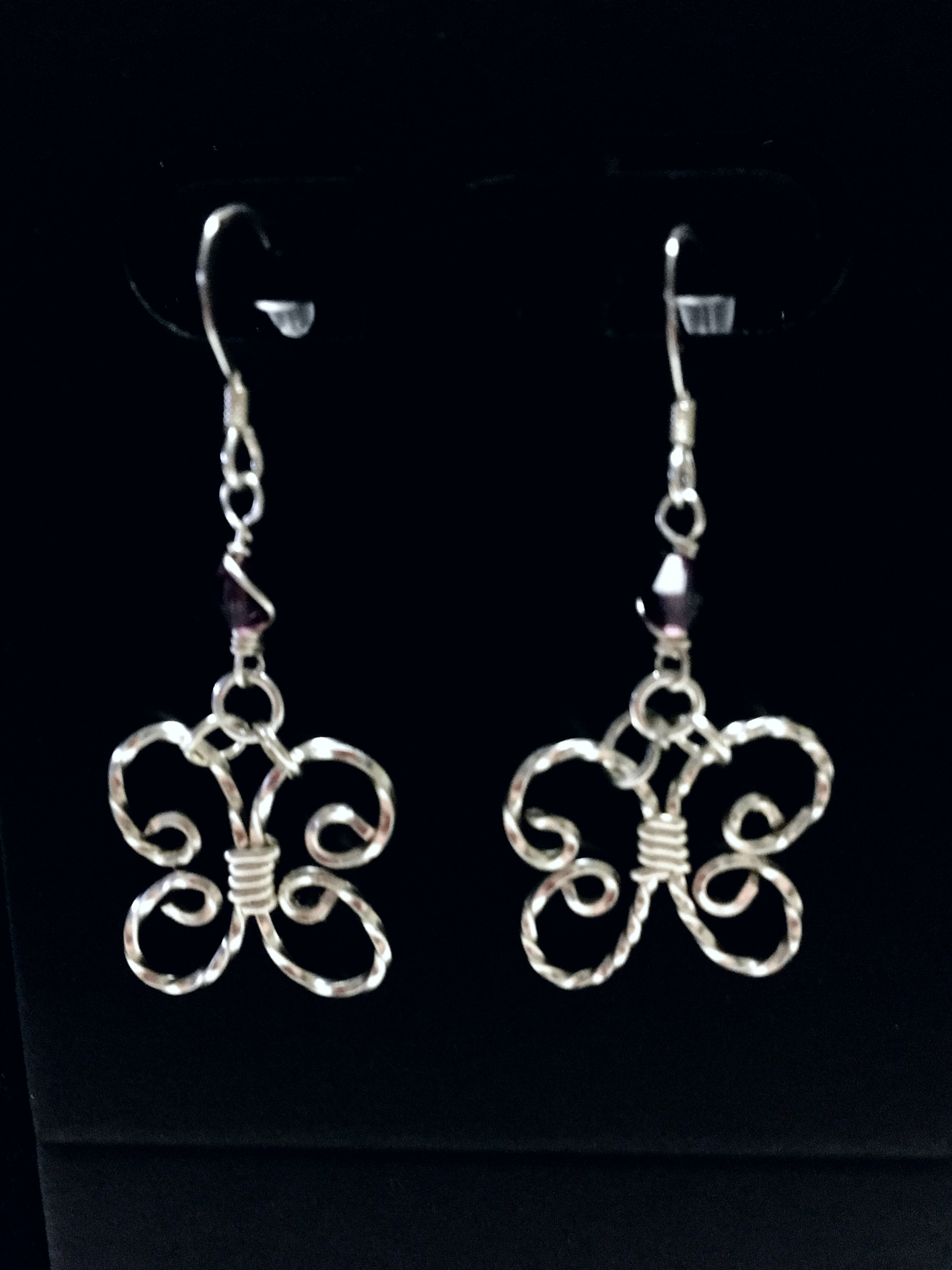 Candid Claire Earrings - Butterfly - Silver Plated and Sterling