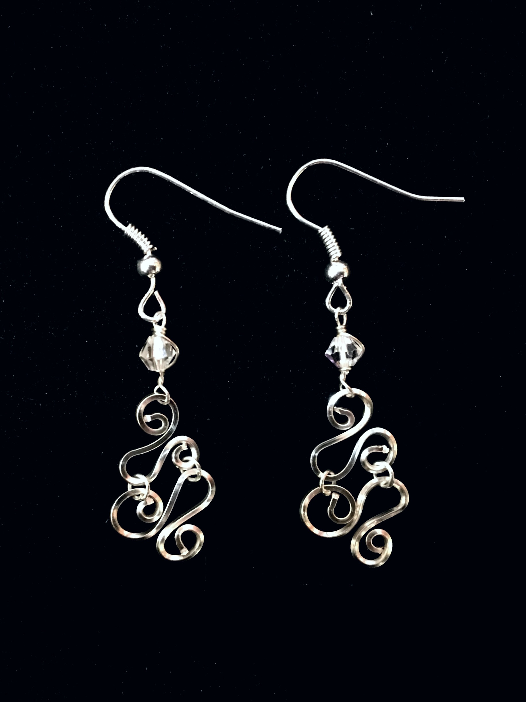 Candid Claire Earrings - Swirly
