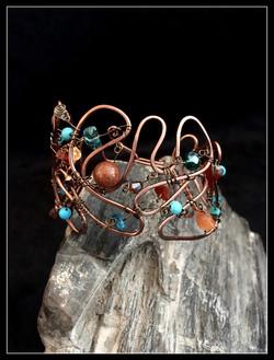 2016 copper beady cuff