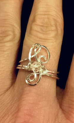 Candid Claire Ring - Wavy - Silver Plated