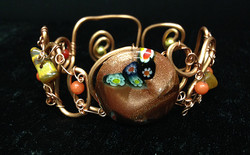 2014 Copper Cuff with Glass bead
