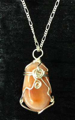 2014 Pendant Wrapped Carnelian