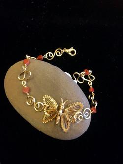 Dainty Deva Bracelet - Goldfileld Butterflies - Silver Plated Gold Color