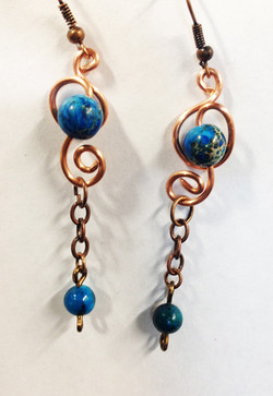 2014 Earrings Copper Dreams 1