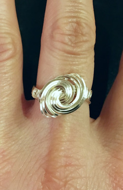 Candid Claire Ring - Whirlpool - Silver Plated