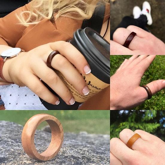 Reclaimed Handmade Solid Wood Ring