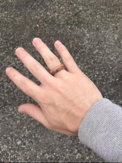 Mahogany + Cherrywood Fusion Wood Ring