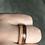 Thumbnail: Mahogany + Cherrywood Fusion Wood Ring