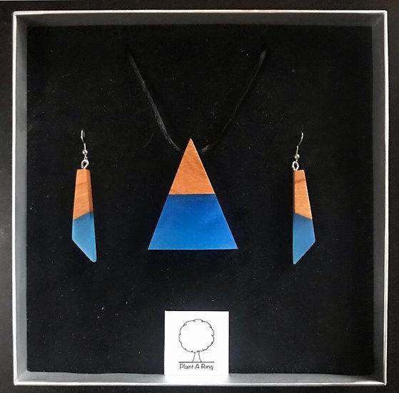 Blue Earrings + Pyramid Giftbox