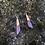 Thumbnail: Purple Wooden Earring Set