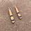 Thumbnail: Teardrop Blue Wood Earrings