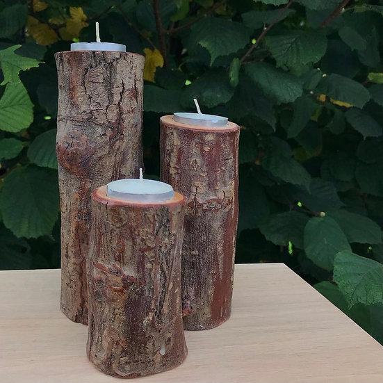 Tree Branch Tea Light Holders - Set of 3