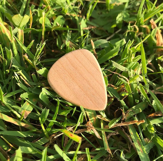 Handcrafted Wooden Guitar Picks (Set of 3)