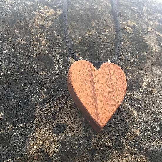 Heart Necklace - Cherrywood
