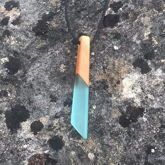 Turquoise Shard Pendant - Long