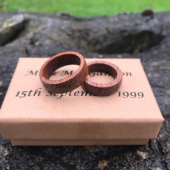 Wooden Rings Custom Matching Set