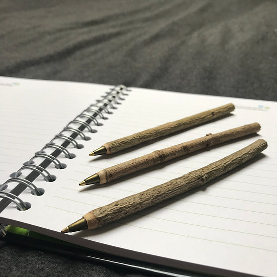 Wooden Pens - Set of 3