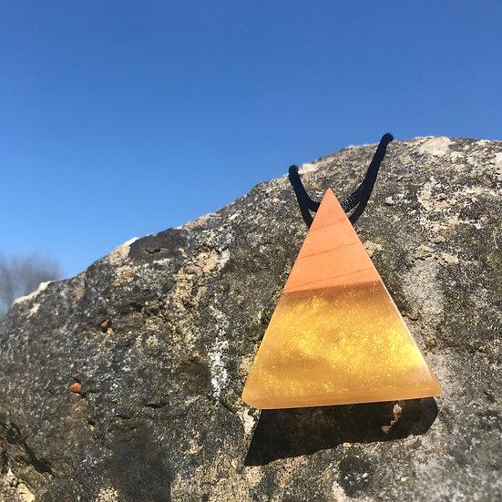 Gold Pyramid Pendant
