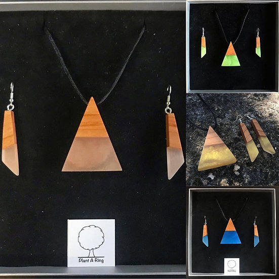 Pyramid Gift Set - Pendant and Earrings