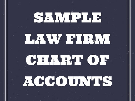 Law Firm Chart of Accounts