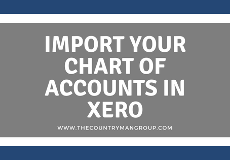 Import Your Chart of Accounts in Xero