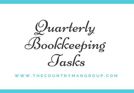 Quarterly Bookkeeping Tasks