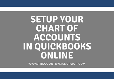 Setup Your Chart of Accounts in QuickBooks Online