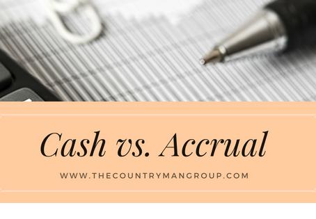 Cash vs. Accrual
