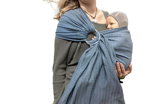 "Ring Sling  ""Monochromic Herringbone Dreams"""