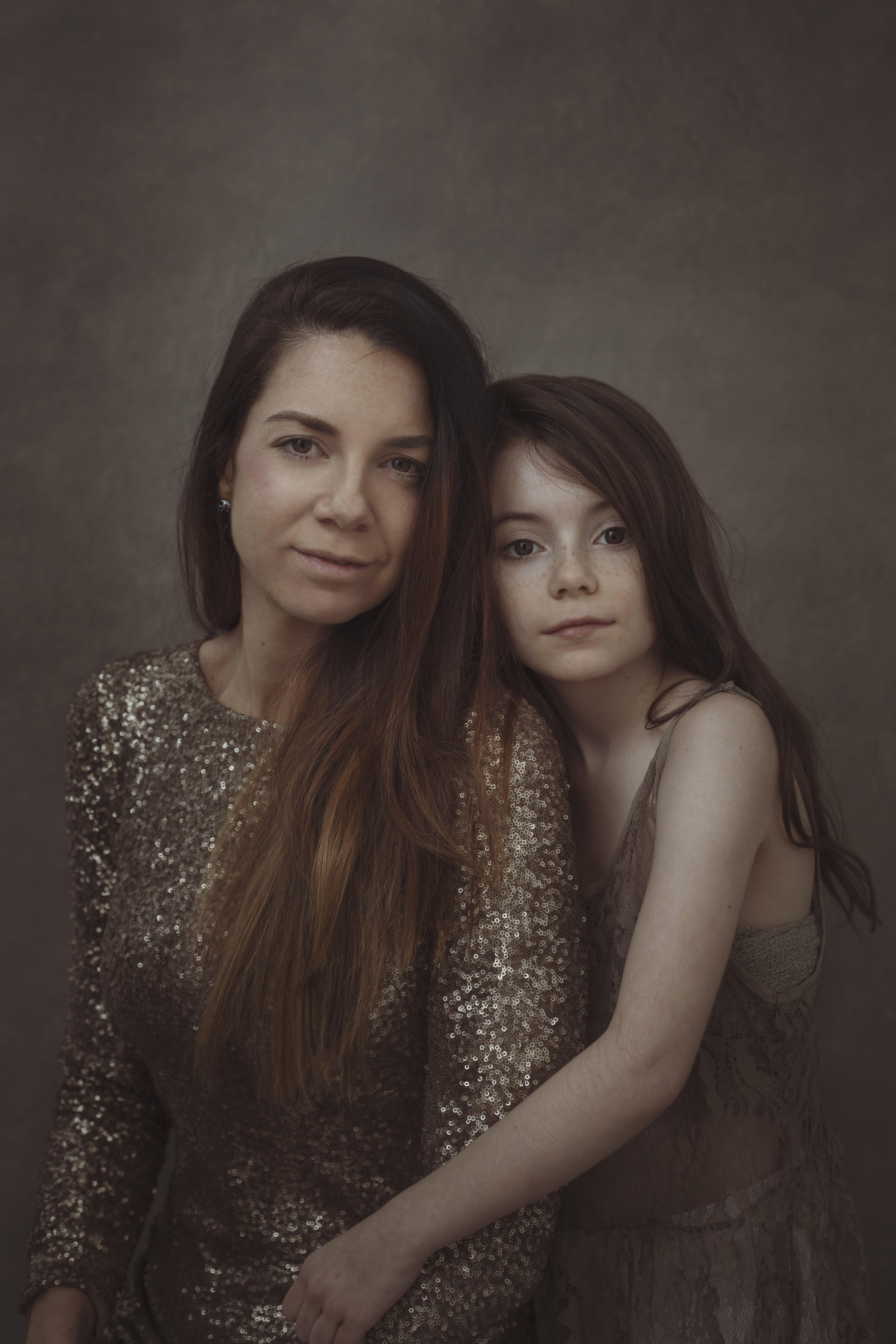 mother and daughter fine art photosh