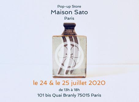 Pop-up Store at Maison de la culture du Japon à Paris le 24 et le 25 juillet 2020