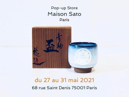 Pop-up Store du 27 au 31 mai 2021: Maison Sato Paris