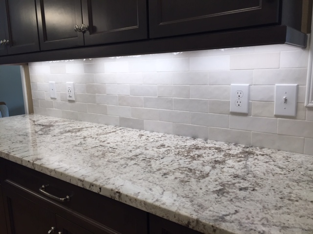 Tile back splash