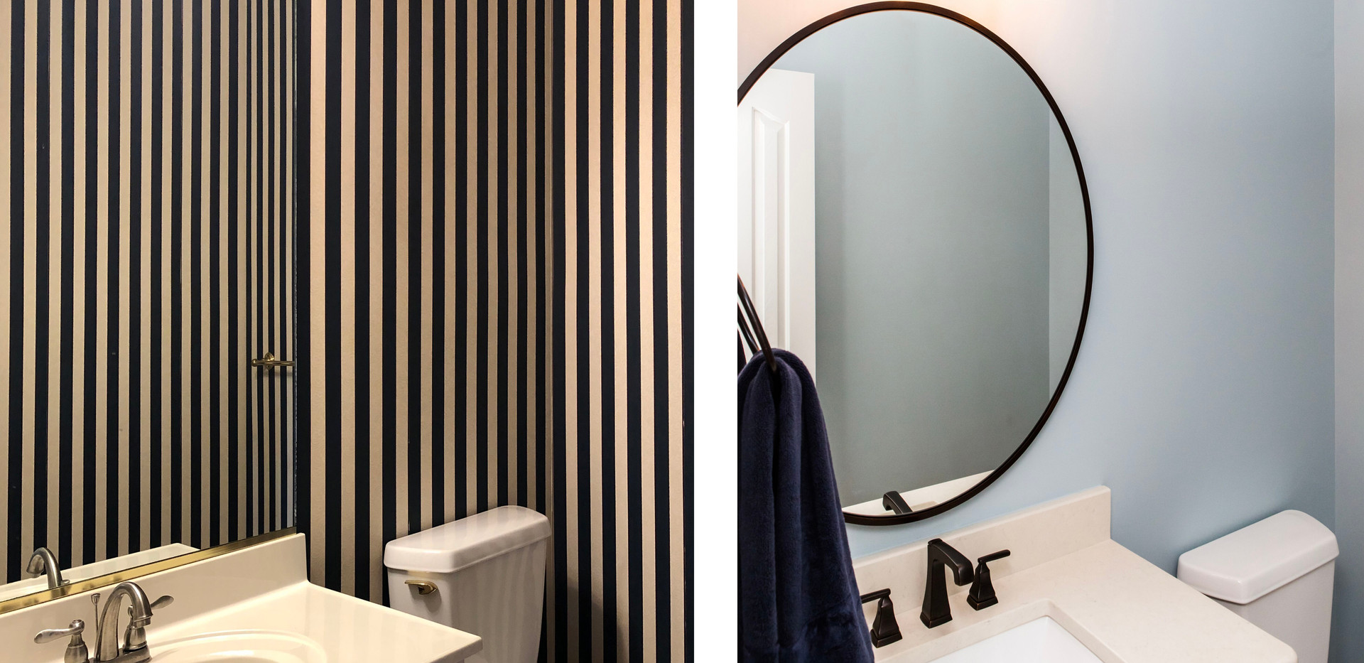 Powder Room Before and After