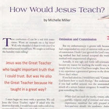 How Would Jesus Teach