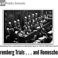 The Nuremberg Trials ... and Homescholing?!