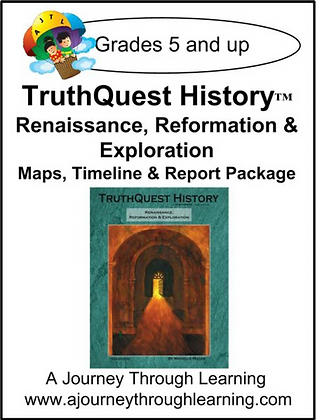 AJTL Map/Timeline/Report Package for TQH: Renaissance/Reformation (PDF)