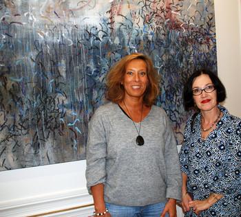 Masha S. Schmidt à gauche (artiste peintre)