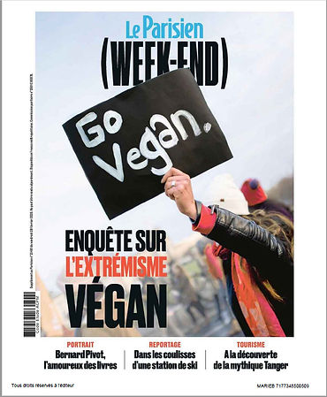 Le Parisien agribashing vs vegan