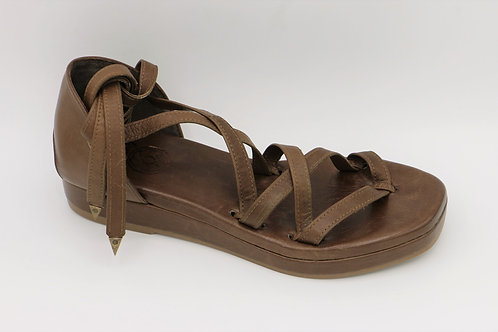barcelona warm brown sandals
