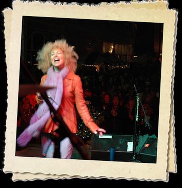 Jennie DeVoe performs at Muncie Gras