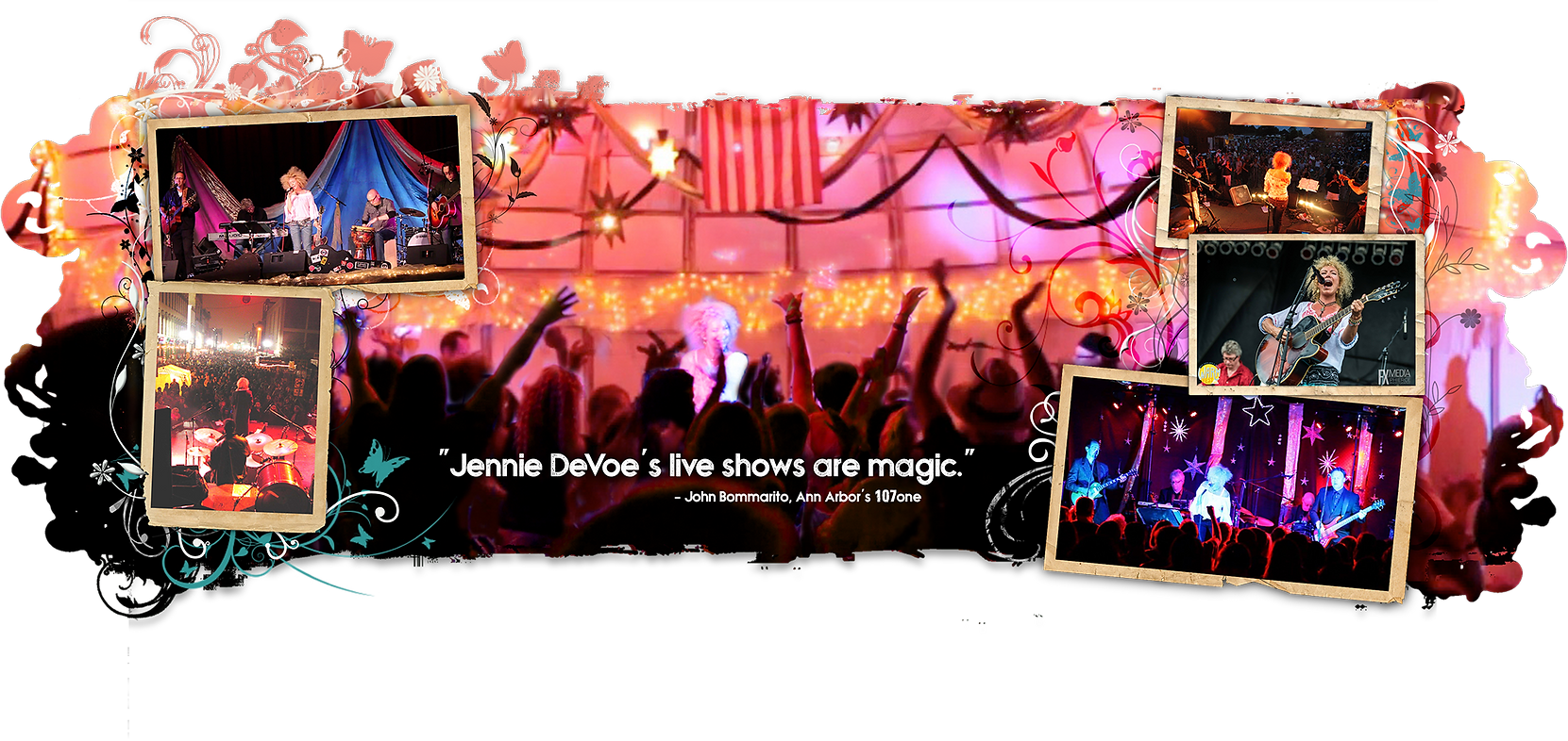 """Jennie DeVoe's live shows are magic."" - John Bommarito, Ann Arbor's 107one"
