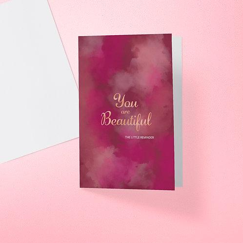 You are Beautiful - Plum Card