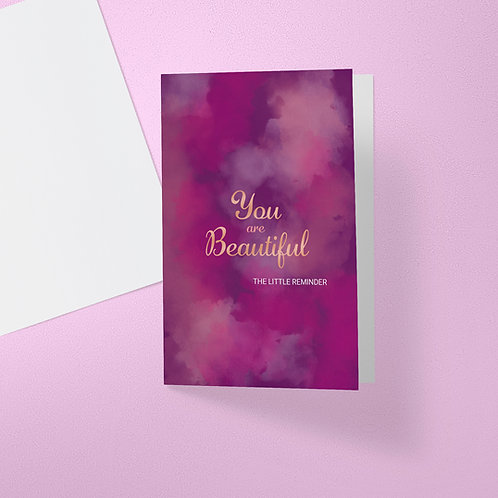 You are Beautiful - Purple Card