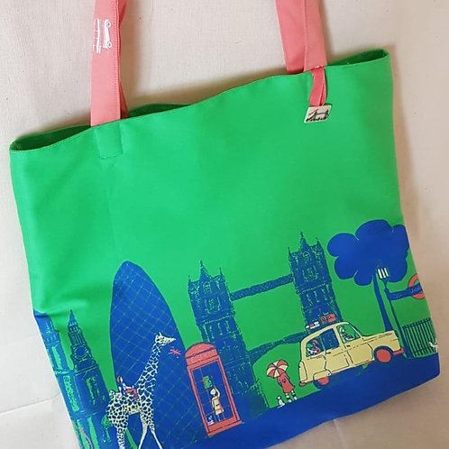 Green London Tote bag