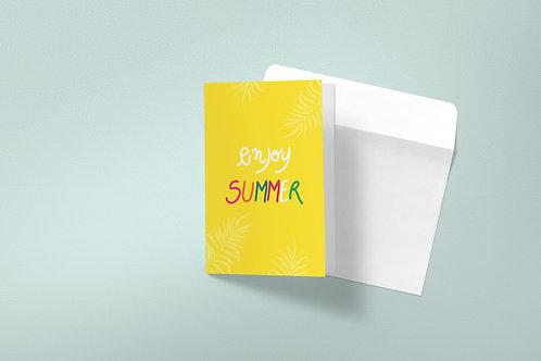 Summer greeting card-yellow