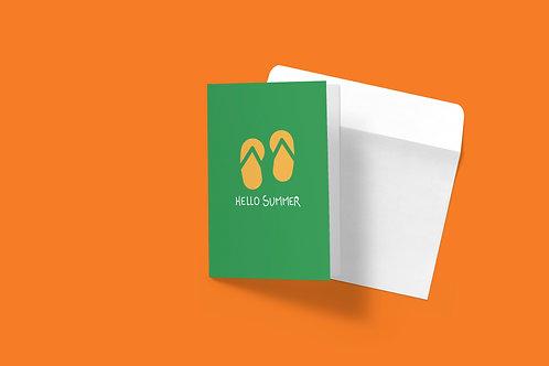 Summer greeting card-green