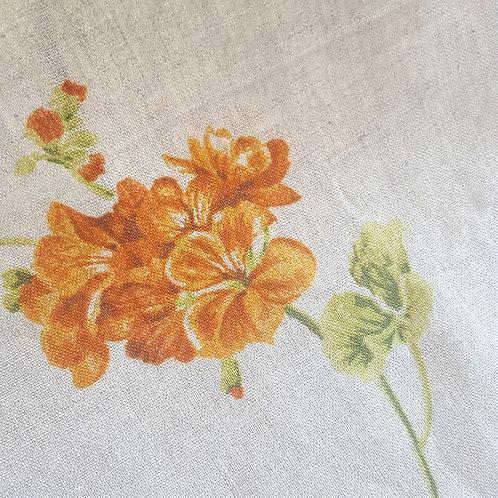 Face mask - Orange Flowers